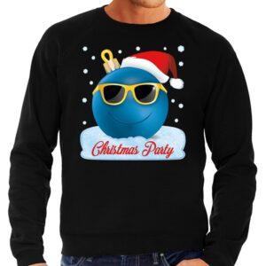 Foute kerst sweater / trui Christmas party zwart voor heren