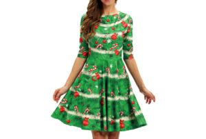 Foute kerstjurk Maat M - #E - Kerstboom