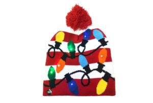 Kerstmuts met lichtjes 13 - Lichtjes rood