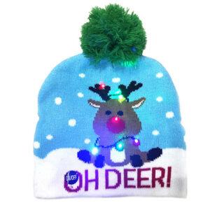 Kerstmuts met lichtjes 15 - Oh deer 2