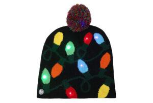 Kerstmuts met lichtjes 3 - Lichtjes groot