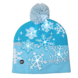 Kerstmuts met lichtjes 6 - Sneeuwvlokjes