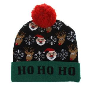 Kerstmuts met lichtjes 8 - Ho Ho Ho