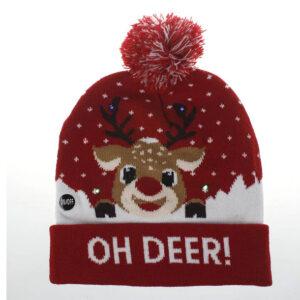 Kerstmuts met lichtjes 9 - Oh deer 1