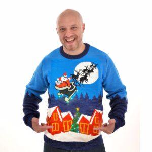 Kersttrui met licht Sleigh Ride voor mannen