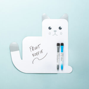 Magnetisch Schrijfbord In De Vorm Van Een Kat - Wit