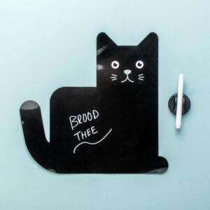Magnetisch Schrijfbord In De Vorm Van Een Kat - Zwart