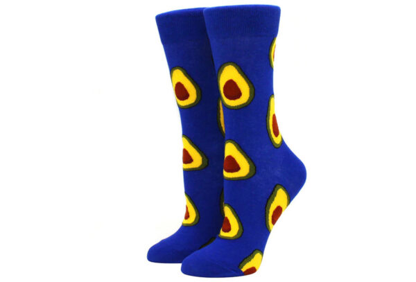 Printed Socks Avocado - blauw