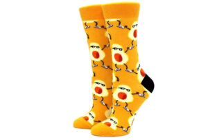 Printed Socks Avocado - geel