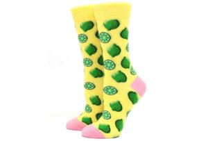 Printed Socks Limoen - geel