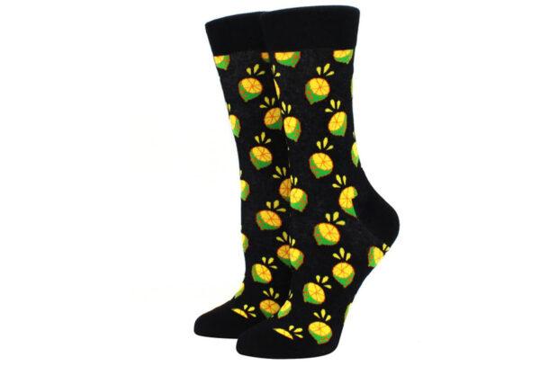 Printed Socks Limoen - zwart