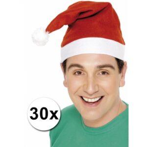 Voordelige kerstmutsen 30 stuks